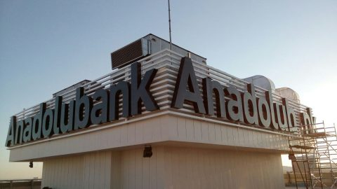 Anadolubank Genel Müdürlük Çatı Tabelası