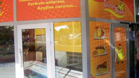 Chicken Broast Mağaza Camı