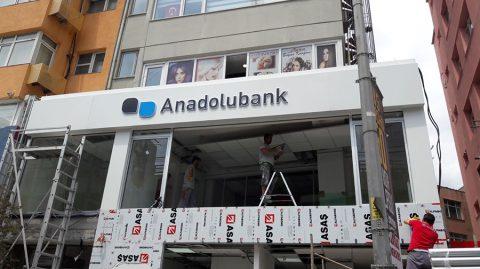 Anadolubank şube tabelaları