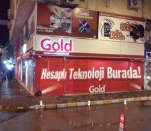 Folyo Dijital baskı Gold İzmit Vitrin