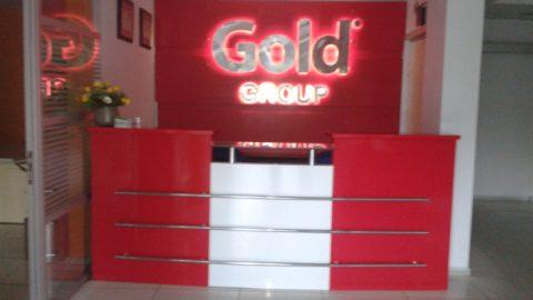 Paslanmaz Kutu harf  Gold PC